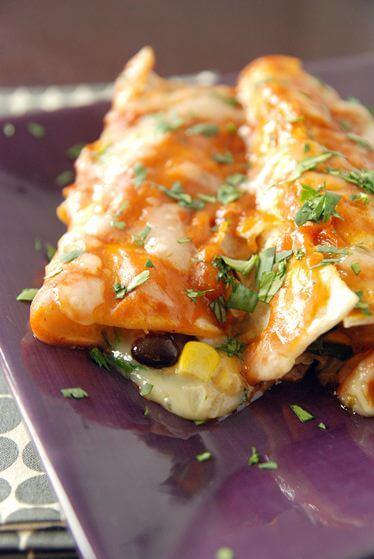 Sip and Bite: Vegetable Enchiladas
