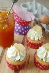 Ginger Peach Cupcakes