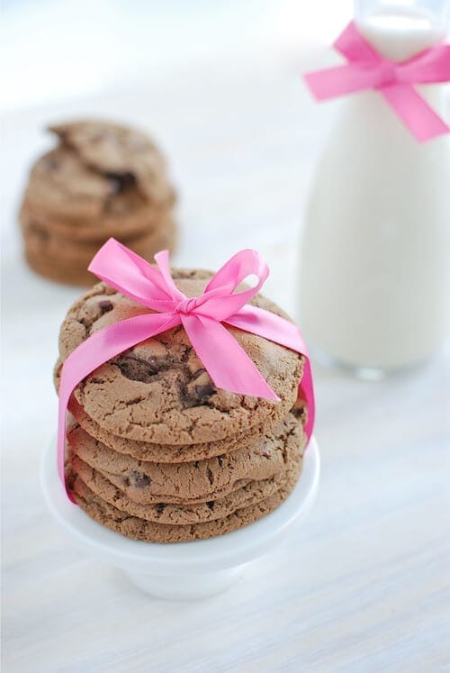 Triple Chocolate Malt Cookies