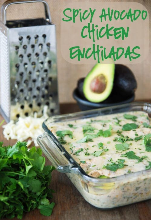 Spicy Avocado Chicken Enchiladas sm