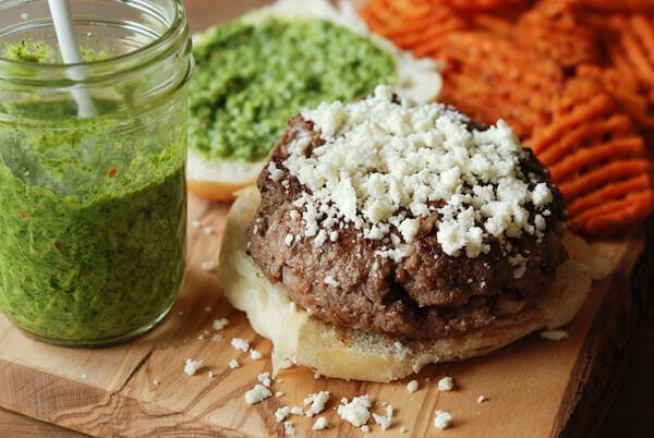 Cilantro Chimichurri Burger from www.thenovicechefblog.com