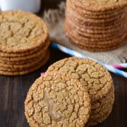 Chewy Molasses Cookies  from www.thenovicechefblog.com