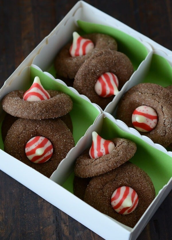 8th Day Of Christmas Chewy Chocolate Peppermint Cookies