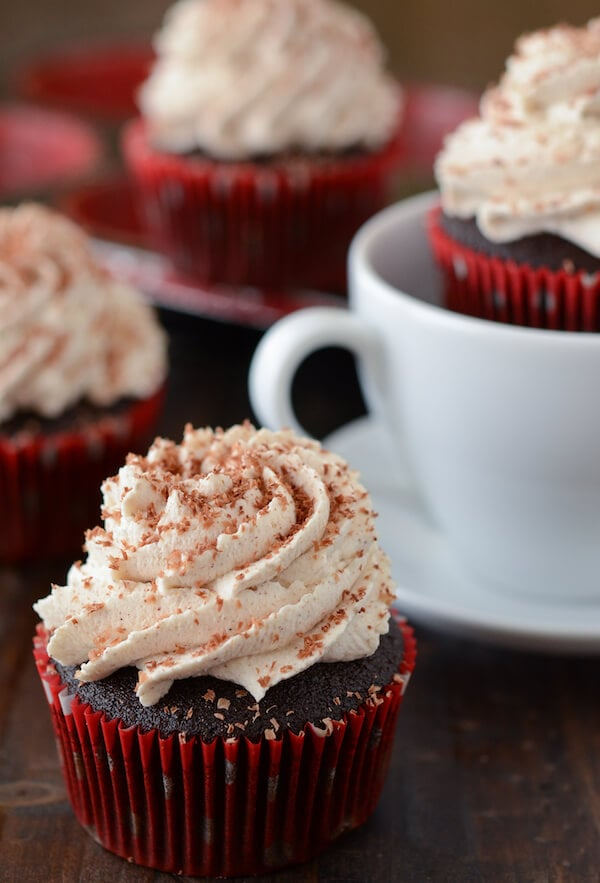 Mexican Hot Chocolate Cupcakes via www.thenovicechefblog.com