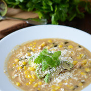 Roasted Poblano, Corn & Chicken Soup 2 sm