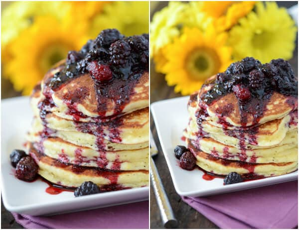 Sweet Hoecakes with Blackberry Rum Sauce from thenovicechefblog.com