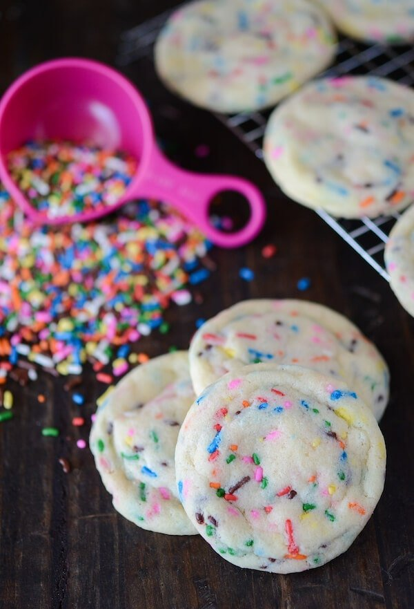 Soft Sprinkle Sugar Cookies from thenovicechefblog.com