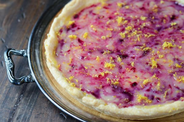 Lemon Blueberry Pie via thenovicechefblog.com