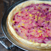 Lemon Blueberry Tart via thenovicechefblog.com