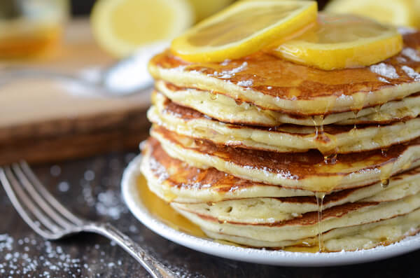 Lemon Ricotta Pancakes from thenovicechefblog.com