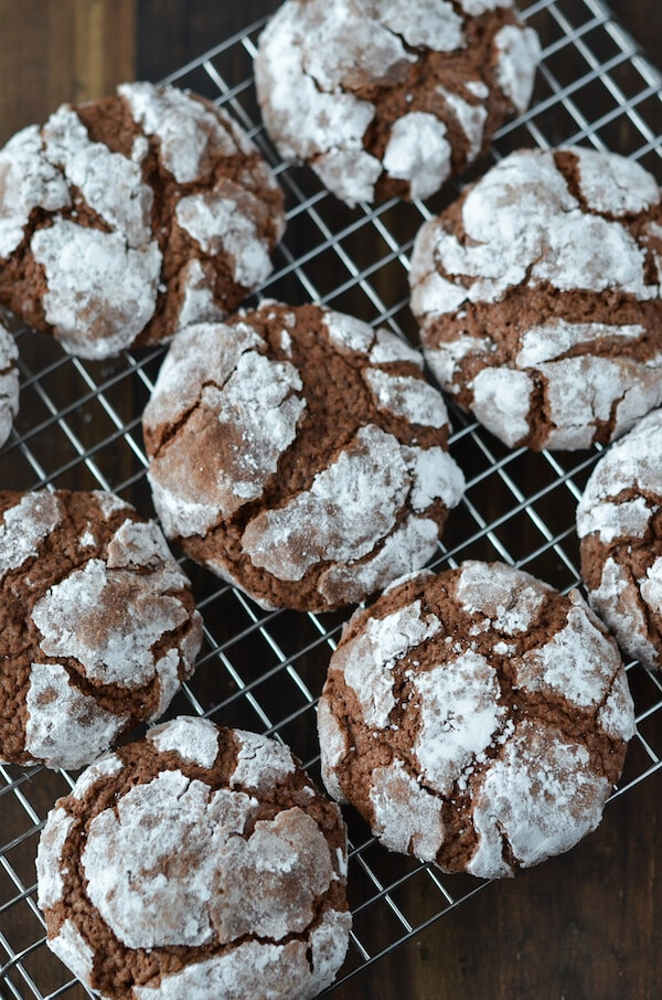 Chocolate Crinkle Cookies from Scratch