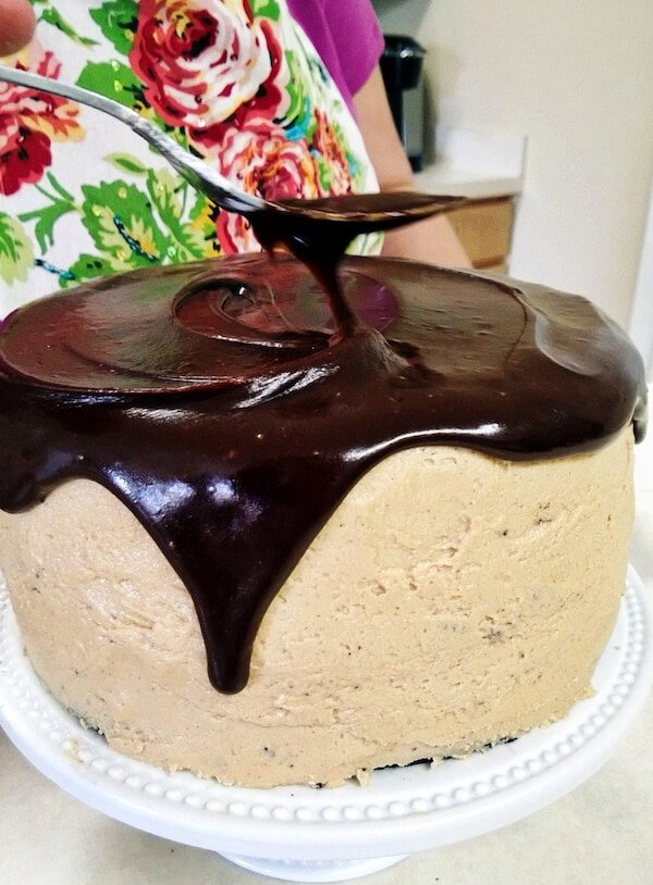 Chocolate and Peanut Butter Dream Cake  (via thenovicechefblog.com)