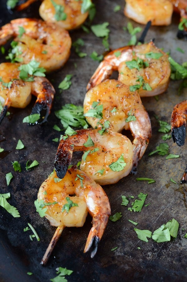 Sweet & Sticky Shrimp via thenovicechefblog.com