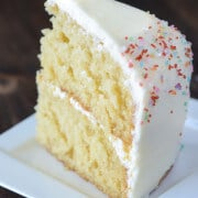 Vanilla Dream Cake (recipe via thenovicechefblog.com)