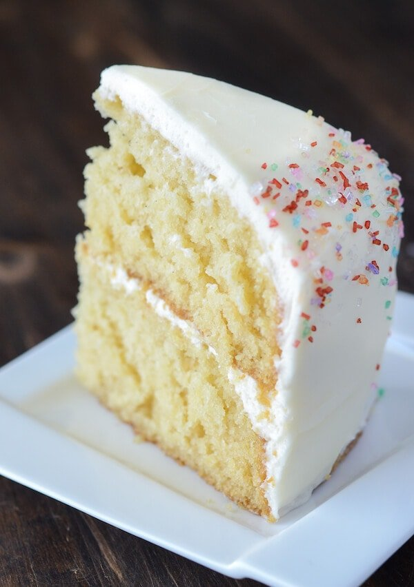 Vanilla Swiss Almond Ice Cream Cake