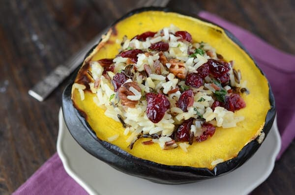 Stuffed Acorn Squash (recipe via thenovicechefblog.com)