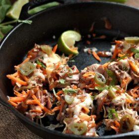 Spicy Thai Beef Nachos!