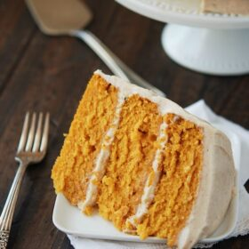 Pumpkin Dream Cake (recipe via thenovicechefblog.com)