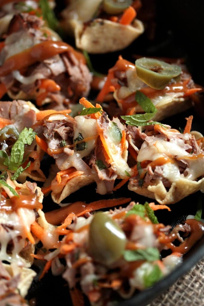 Spicy Thai Beef Nachos!