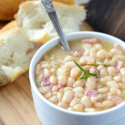 Rosemary Ham Bean Soup (recipe via www.thenovicechefblog.com)