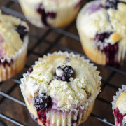 Blueberry Lime Muffins via www.thenovicechefblog.com
