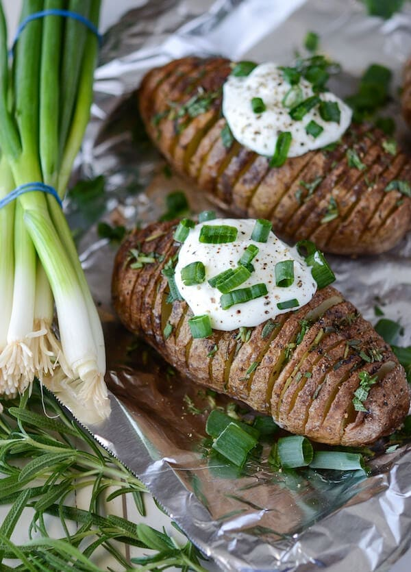 Rosemary Hasselback Potatoes recipe via www.thenovicechefblog.com