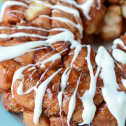 Orange Monkey Bread with Cream Cheese Drizzle recipe via www.thenovicechefblog.com
