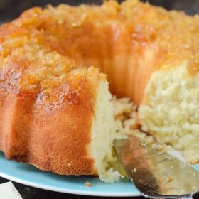 Pineapple Coconut Bundt Cake recipe from www.thenovicechefblog.com