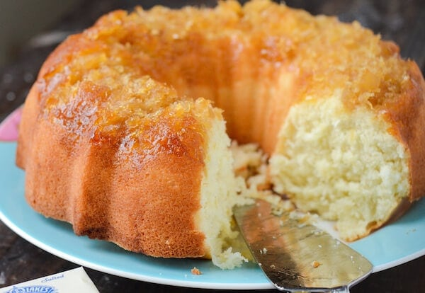 Pineapple Coconut Bundt Cake recipe from www.thenovicechefblog.com