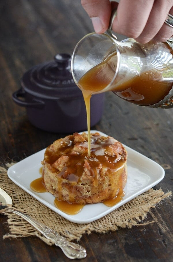 Donut Bread Pudding with Rum Sauce recipe via www.thenovicechefblog ...