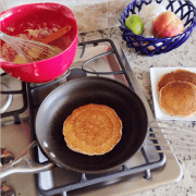 HoeCakes (Pancakes made with cornmeal & buttermilk)