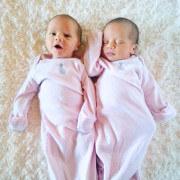 Ellie & Lyla Segarra - First day home!
