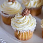 Pecan Praline Cupcakes via www.thenovicechefblog.com