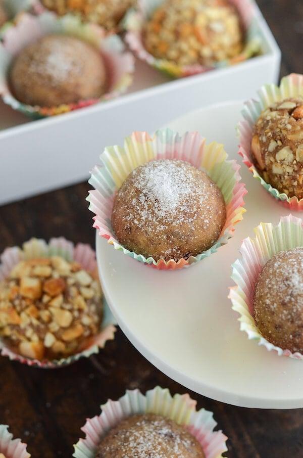 PB&J Truffles recipe via ww.thenovicechefblog.com