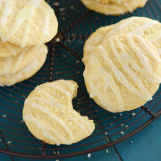 Lemon Chiffon Cookies: Lemon juice and lemon zest make these soft cookies burst with lemon flavor. Top them off with a drizzle of lemon icing and yellow sprinkles.