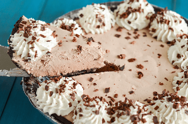 Frozen Mocha Pie! (No Bake!)