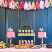Pink & Gold First Birthday Party - Ellie & Lyla turn One! #Twins 1 sm