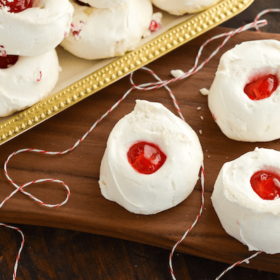 Never Fail Cherry Divinity! You just need 1 secret ingredient - marshmallow fluff!