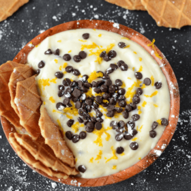 Chocolate Orange Cannoli Dip! Easy to make and always a crowd favorite!