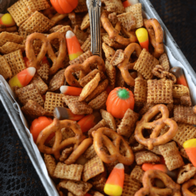 Pumpkin Pie Spice Chex Mix! I wasn't sure how I felt about this, but after my first bite...I immediately took 57 more handfuls!