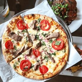 Tenderloin Pizza at Ella's Folk Art Cafe in Tampa.