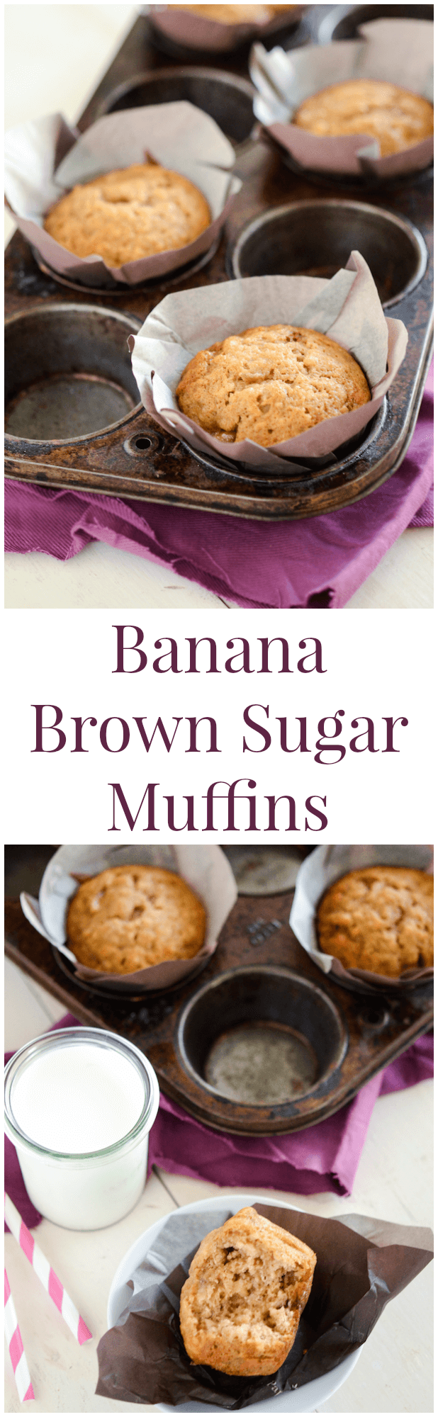 Banana Brown Sugar Muffins! They only take 20 minutes to make!