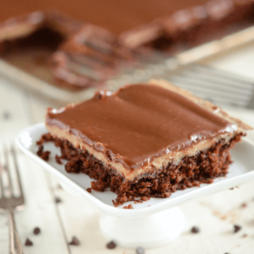 Chocolate and Peanut Butter Sheet Cake 3 sm