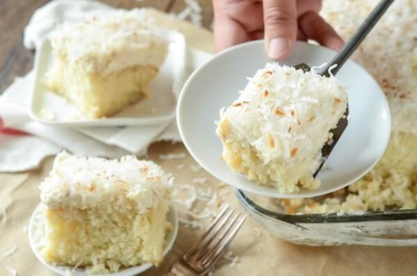 Coconut Tres Leches Cake - my favorite way to dress up a boxed cake ...