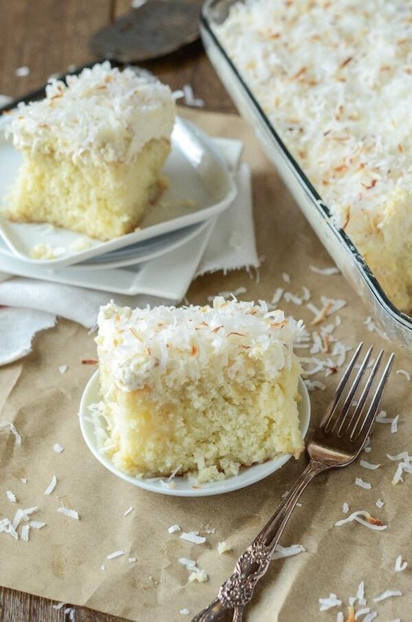 Coconut Tres Leches Cake | The Novice Chef