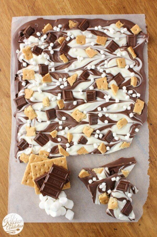 Triple Chocolate S'mores Bark