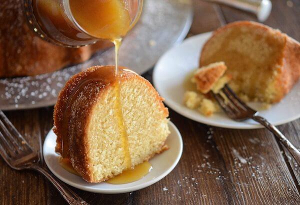 Almond Amaretto Pound Cake - A dense, moist poundcake flavored with ...