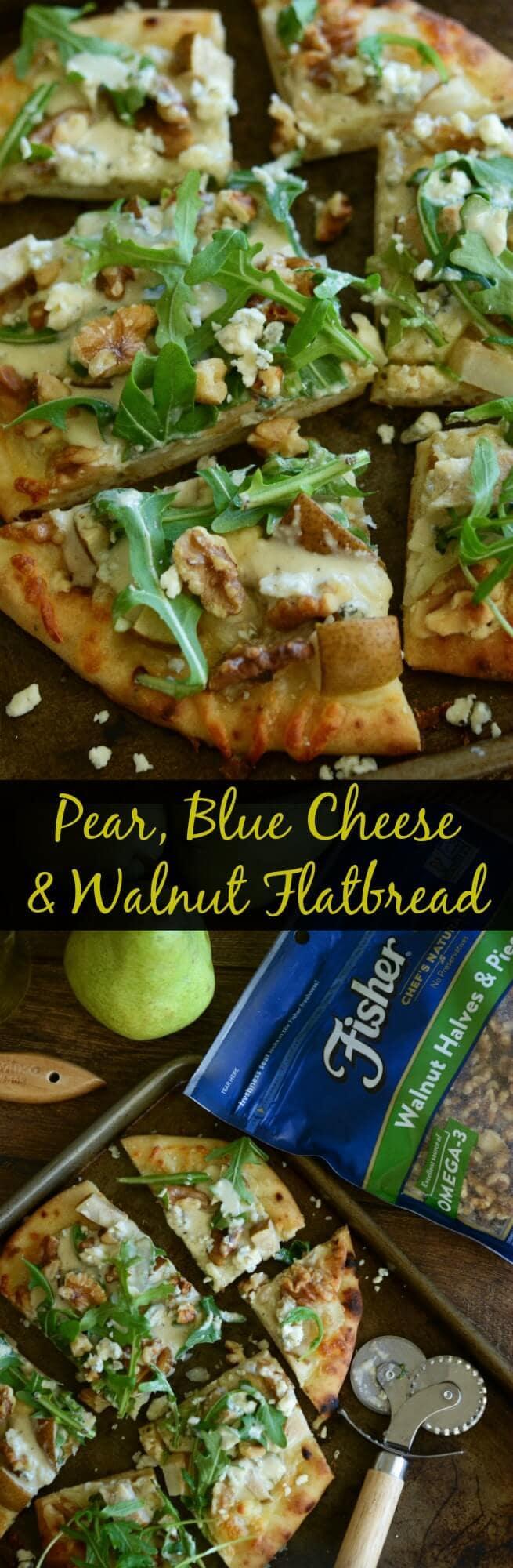 Pear, Blue Cheese & Walnut Flatbread - ready in 20 minutes!